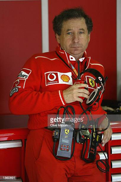 Ferrari Team Director Jean Todt during first practice for the FIA Formula One Belgian Grand Prix at Spa Francorchamps Belgium on August 30 2002