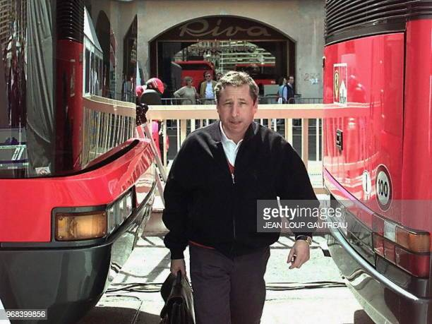 Ferrari team manager Jean Todt arrives 07 May at the Monaco paddocks one day before the first free practice sessions of the Monaco Formula One Grand...