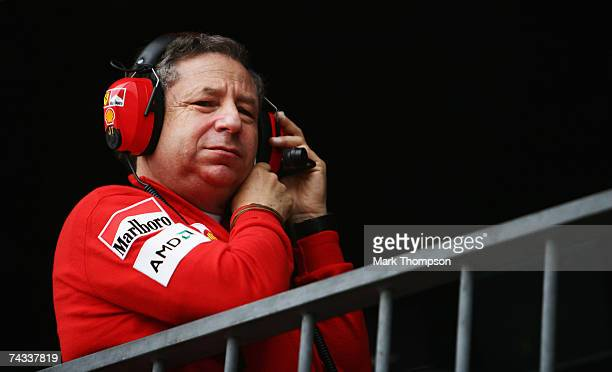 Ferrari Team Principal Jean Todt during qualifying for the Monaco Formula One Grand Prix at the Monte Carlo Circuit on May 26 2007 in Monte Carlo...