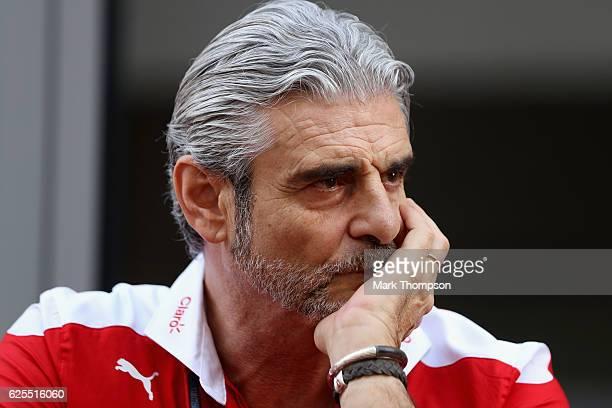 Ferrari Team Principal Maurizio Arrivabene in the Paddock during previews for the Abu Dhabi Formula One Grand Prix at Yas Marina Circuit on November...