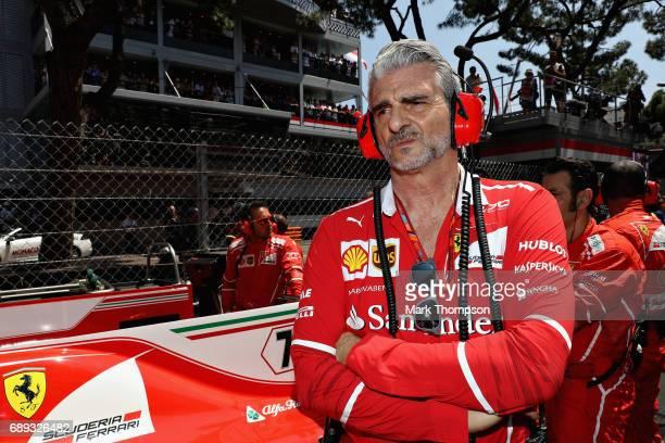 Ferrari Team Principal Maurizio Arrivabene on the grid during the Monaco Formula One Grand Prix at Circuit de Monaco on May 28 2017 in MonteCarlo...