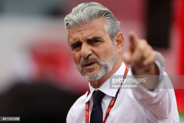 Ferrari Team Principal Maurizio Arrivabene walks in the Paddock during the Italian Formula One Grand Prix