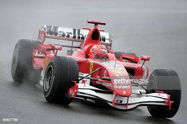 Ferrari team's Michael Schumacher of Germany races at the Formula 1 Grand Prix of Shanghai in China Sunday October 1 2006 Michael Schumacher seeking...