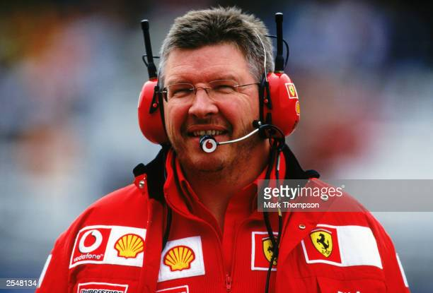 Ferrari technical director Ross Brawn during the United States Formula One Grand Prix held on September 28, 2003 at the Indianapolis Motor Speedway,...