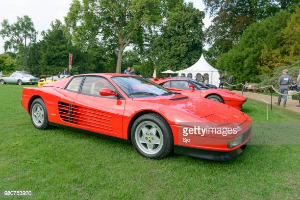 Ferrari Testarossa 1980s sports at a car show