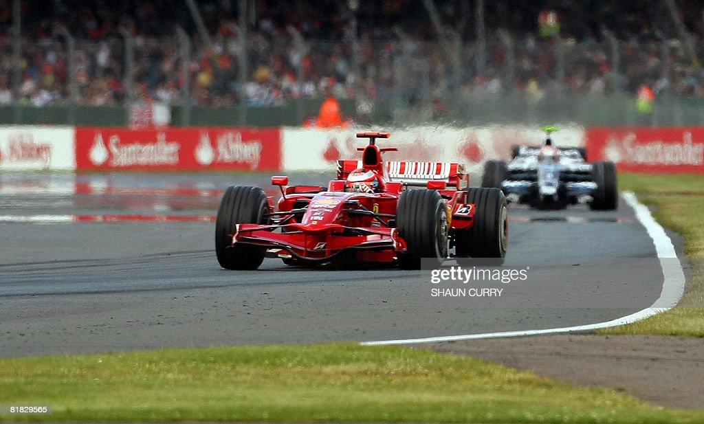 Ferrari's Finnish driver Kimi Raikkonen : News Photo