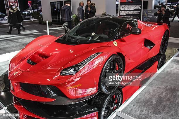 Ferrari's LaFerrari is displayed during Canadian International Auto Show in Toronto Canada on February 13 2015
