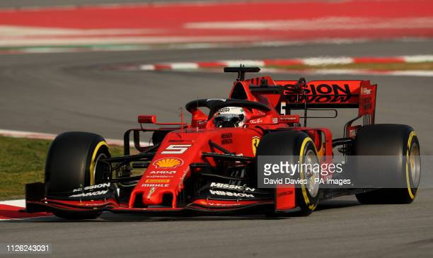 Ferrari's Sebastian Vettel during day three of preseason testing at the Circuit de BarcelonaCatalunya