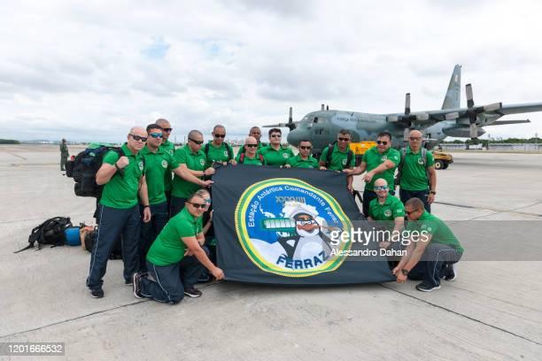 Ferraz Base Group embarking for 13month mission at Brazilian Antartica Station on November 03 2019 in Rio de Janeiro Brazil