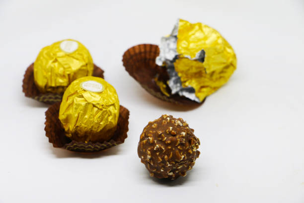 Ferrero Rocher Chocolate on white Background