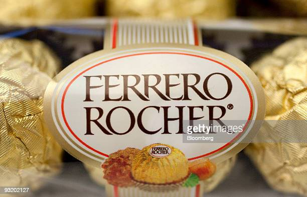 Ferrero SpA chocolate is arranged for a photograph in Washington DC US on Wednesday Nov 18 2009 Michele Ferrero mixed his first batch of Nutella...