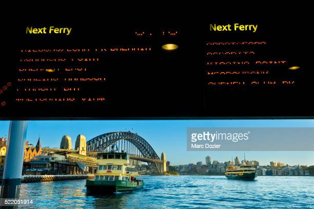 Ferries in the bay of Sydney
