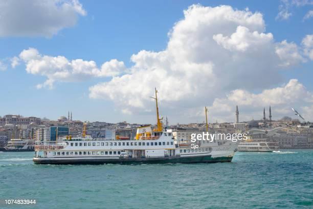 Ferries over the Bosphorus in Istanbul, Turkey