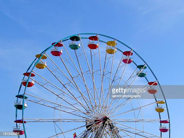ferris wheel against blue sky - hanover new hampshire stock pictures, royalty-free photos & images
