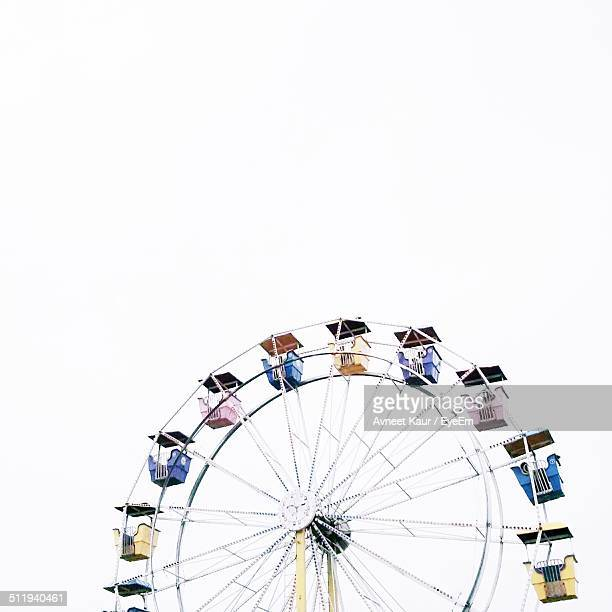 Ferris wheel against clear sky