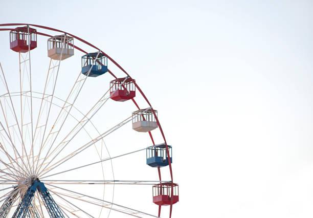 ferris wheel against white background