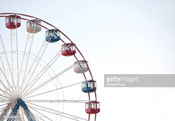 ferris wheel against white background