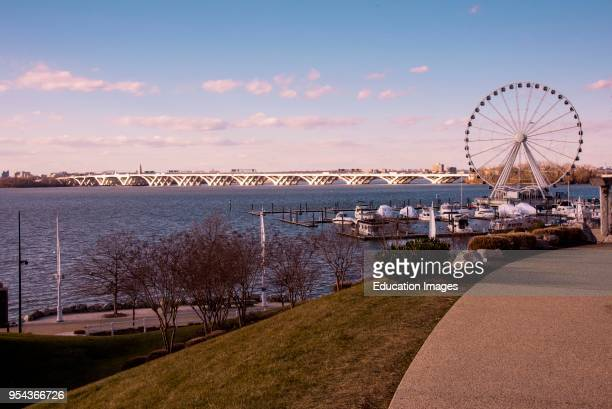 Ferris wheel and boat dock at National Harbor Maryland