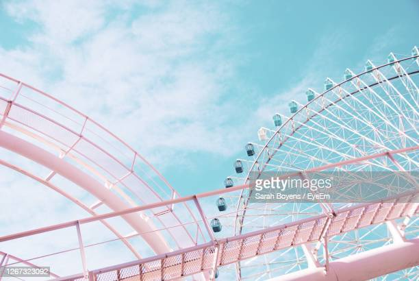 ferris wheel and coaster - carnival stock pictures, royalty-free photos & images