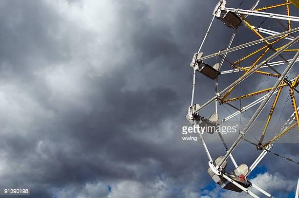 Ferris Wheel and Threatening Sky