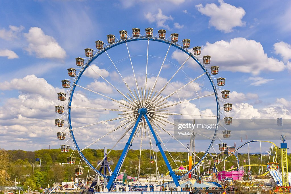 ferris wheel at a amusement park stock photo getty images
