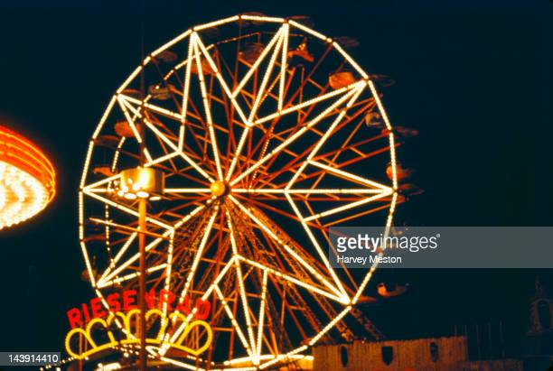A ferris wheel at a funfair at Palisades Park New Jersey circa 1970