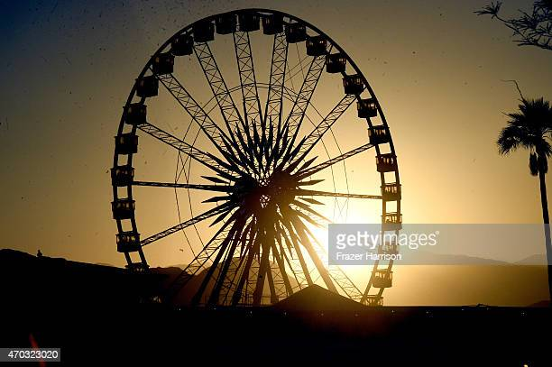 Ferris wheel at day 2 of the 2015 Coachella Valley Music And Arts Festival at The Empire Polo Club on April 18 2015 in Indio California