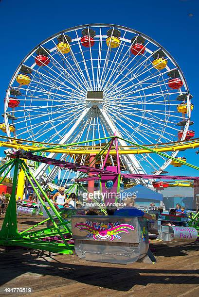 Ferris Wheel at the Santa Monica Pier Los Angeles California USA