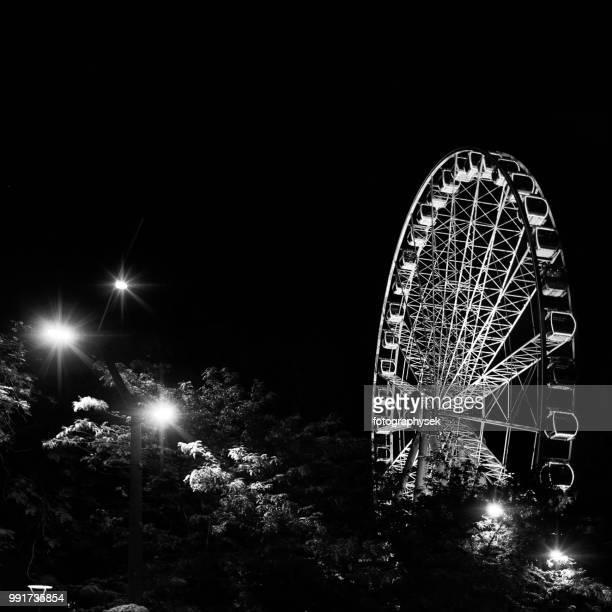 ferris wheel in budapest - stadio olimpico nazionale foto e immagini stock