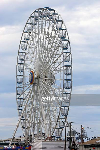 ferris wheel in ocean city, nj - ocean city new jersey stock pictures, royalty-free photos & images