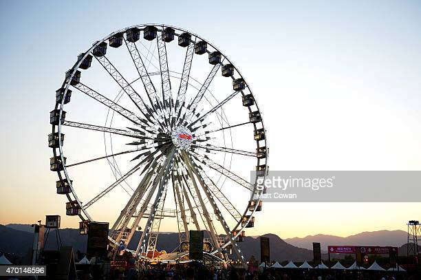 Ferris wheel is seen during day 1 of the 2015 Coachella Valley Music And Arts Festival at The Empire Polo Club on April 17 2015 in Indio California