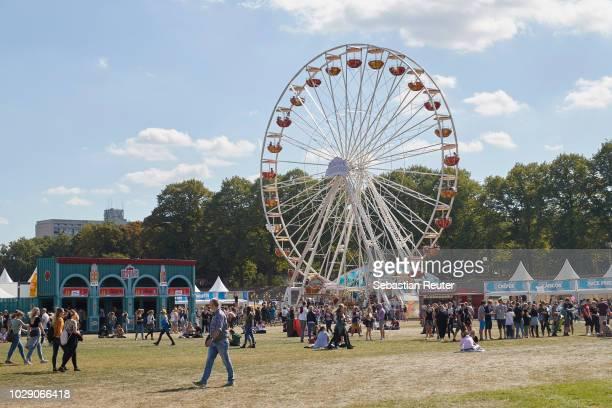Ferris wheel is seen during Lollapalooza Berlin 2018 at Olympiagelaende on September 8, 2018 in Berlin, Germany.