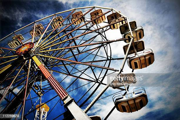 ferris wheel on boardwalk - ocean city new jersey stock photos and pictures