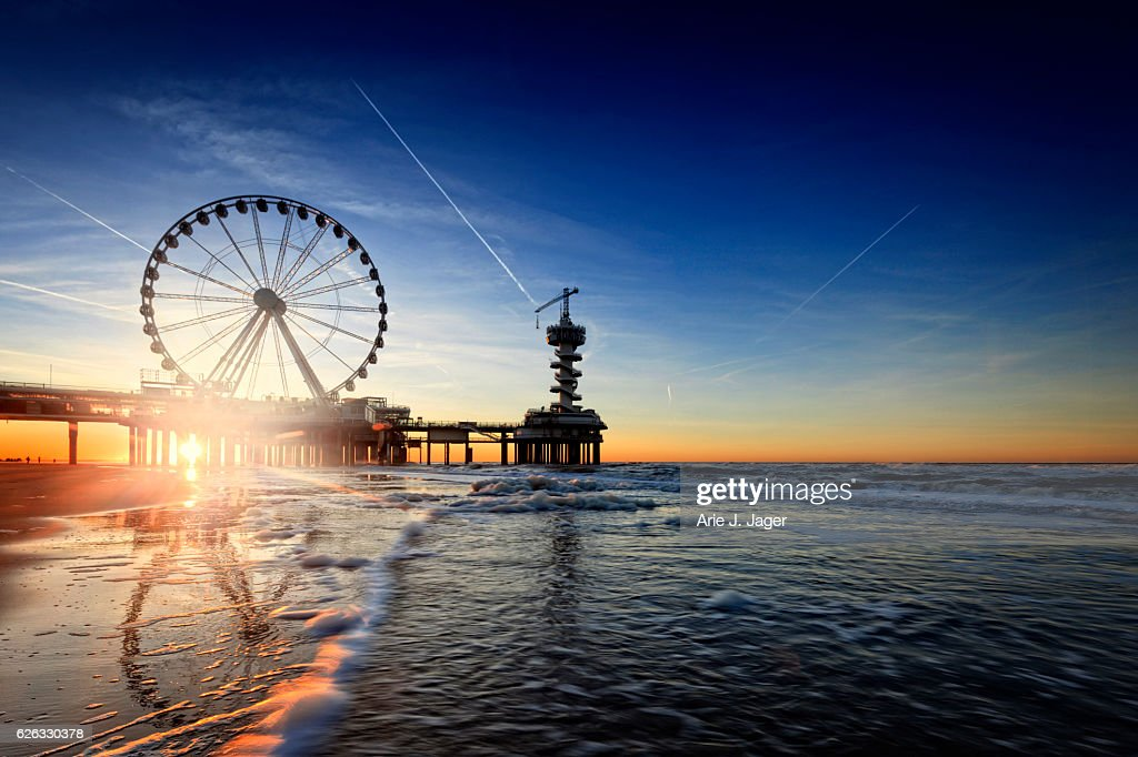 ferris wheel on the Pier at Scheveningen : Stock Photo