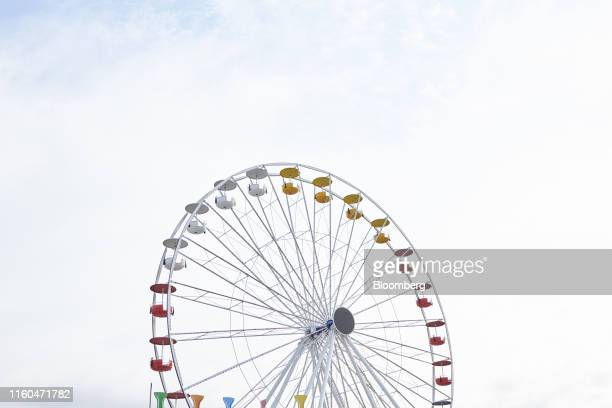 A ferris wheel stands at the Iowa State Fair in Des Moines Iowa US on Thursday Aug 8 2019 The 2020 Democratic field is gathering in Iowa for the...