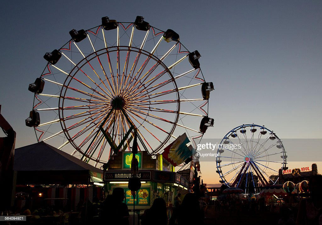 Ferris wheels at the 2012 California State Fair held in