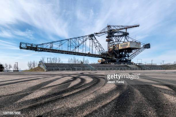 ferropolis - city of steel - coal mining stock photos and pictures