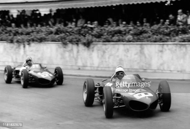 Ferrrai 156 Shark Nose, Phil Hill and Ritchie Ginther, 1961 Monaco Grand Prix. Creator: Unknown.