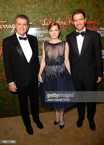 Ferruccio Ferragamo actress Amy Adams and James Ferragamo arrive at the Wallis Annenberg Center for the Performing Arts Inaugural Gala presented by...