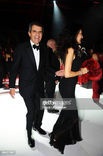 Ferruccio Ferragamo and wife Ilaria attend the afterparty for amfAR's second annual Cinema Against AIDS Rome at the Galleria Borghese on October 24...