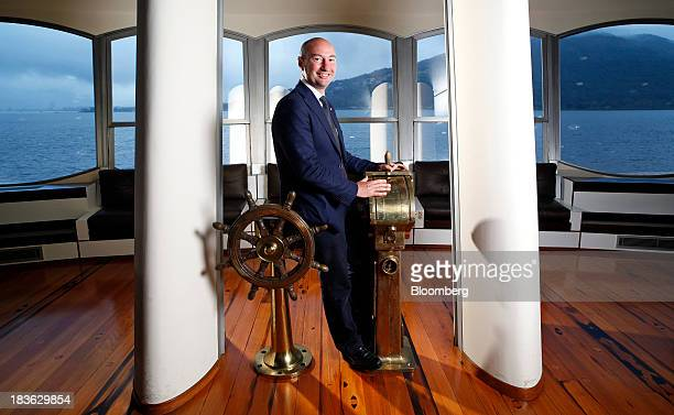 Ferruccio Rossi chief executive officer of Ferretti Group poses for a photograph in the offices of the company's Riva luxury boat unit overlooking...