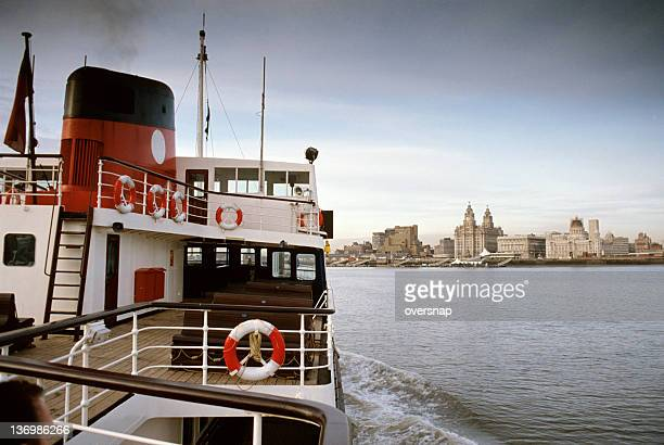 ferry across the mersey - merseyside stock pictures, royalty-free photos & images
