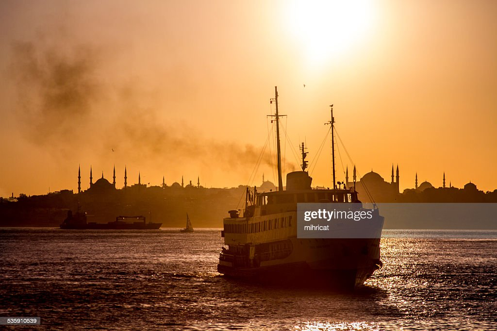 Ferry at the bosphorus : Stock Photo