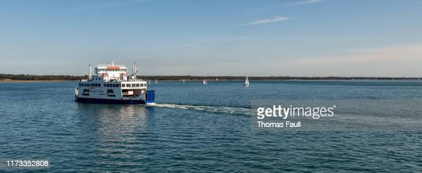 ferry between lymington and isle of wight - lymington stock photos and pictures