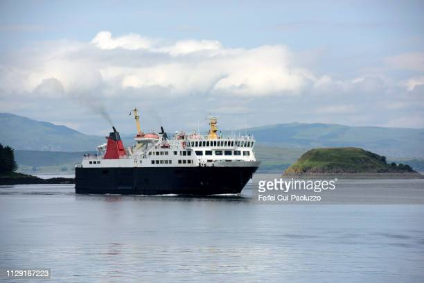 ferry boat at oban, argyll and bute, scotland - ferry stock pictures, royalty-free photos & images