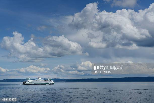 Ferry boat crossing the Puget Sound.