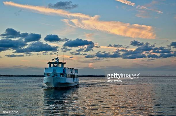 Ferry boat on Great South Bay, Long Island, New York.