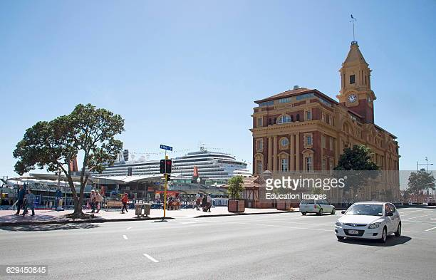 Ferry Building on the Waterfront in Auckland New Zealand