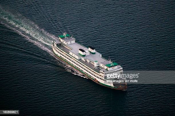 Ferry crossing Puget Sound to Bainbridge Island, Washington.