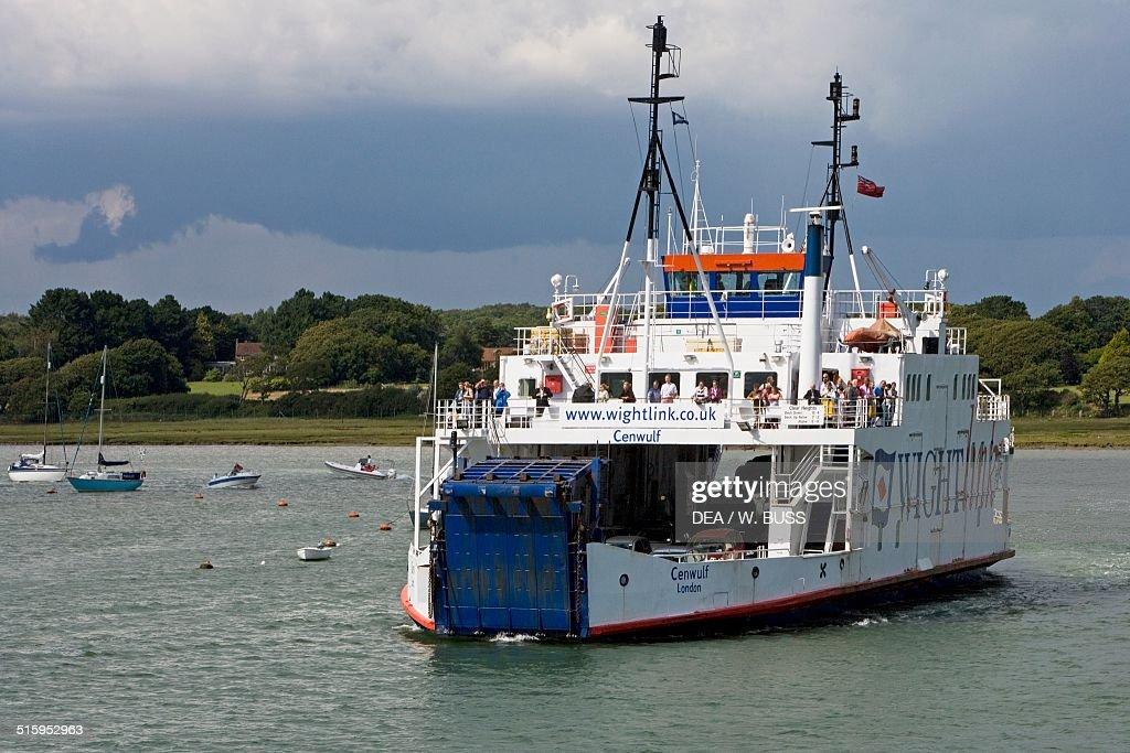 Ferry docked off city port : News Photo